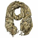 Schal im Pashmina Stil - Muster 02 - 190x70cm - Ethno...