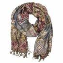Schal im Pashmina Stil - Muster 11 - 190x70cm - Ethno...