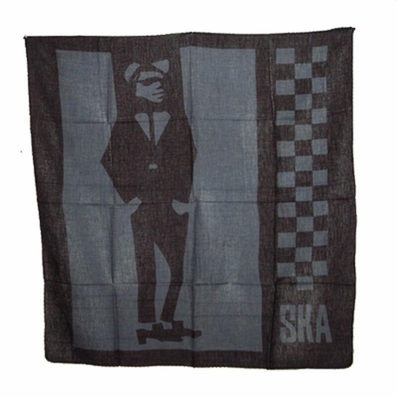 76083715880600 Baumwolltuch - SKA - schwarz - grau 1 - quadratisches Tuch, 4,95 €