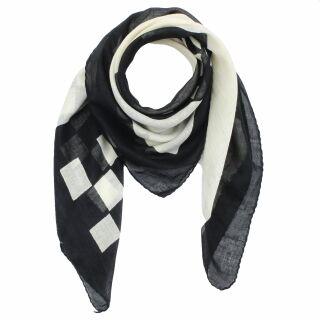6a2403b61273d2 Baumwolltuch - SKA - schwarz - weiß - quadratisches Tuch