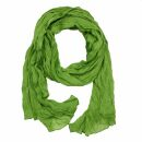 Baumwolltuch - Pareo - Sarong - Plisse Optik - grün...