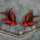 Patch - Swallow - small black red - Set of 2