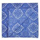 Sciarpa a bandana - Plaid - Ornamenti - blu-bianco -...