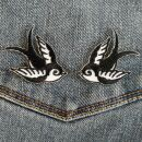 Patch - Swallow - small black white - Set of 2