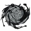 Kufiya Desert - black - white - Shemagh - Arafat scarf