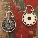 Ohrringe - rund - Mandala - Hängeohrringe - Boho -...