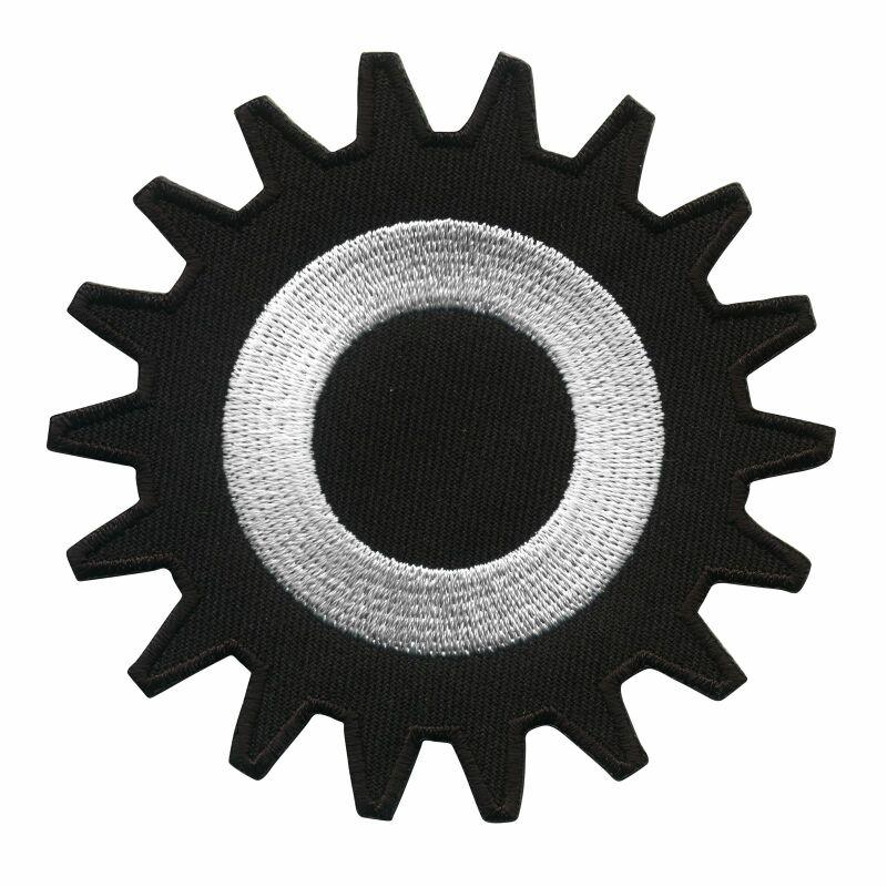 Aufnher zahnrad schwarz wei 8 cm patch 25 aufnher zahnrad schwarz wei 8 cm patch thecheapjerseys Image collections
