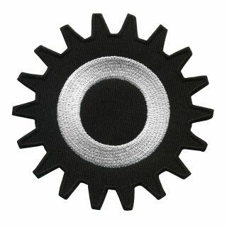 Aufnher zahnrad schwarz wei 8 cm patch 3 aufnher zahnrad schwarz wei 8 cm patch altavistaventures Gallery