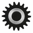 Patch - Gear - black-white 8 cm