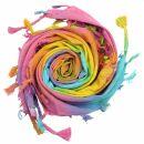 Cotton scarf fine & tightly woven - Rainbow Spiral -...