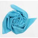 Cotton Scarf - blue-light blue - squared kerchief