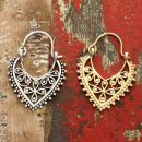 Ohrringe - Herzform - Ornamente - Blumen -...