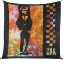 Baumwolltuch - SKA - schwarz - tiedye - quadratisches Tuch