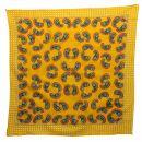 Bandana - Paisley - giallo - Fazzoletto da collo - Quadrato