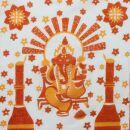 Bandana - Ganesha - Goa - Elefante - arancia - Fazzoletto...