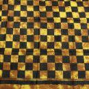 Baumwolltuch - Karos 3 batik braun - schwarz -...