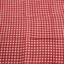 Baumwolltuch - Karos 4 weiß - rot - quadratisches Tuch