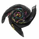 Cotton Scarf - Skulls 1 black - tie dye - squared kerchief