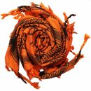 Palituch - Pentagramm orange - schwarz - Kufiya PLO Tuch