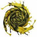 Kufiya - Keffiyeh - Corazones amarillo - negro -...