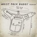 Premium Hip Bag - Buddy - grey - brass-coloured - Bumbag - Belly bag