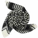 Baumwolltuch - Palituch Motiv 2 schwarz - weiß -...