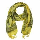 Prayer Shawl - Meditation Wrap - 55 x 22 inch - yellow -...