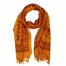 Prayer Shawl - Meditation Wrap - 55 x 22 inch - orange -...
