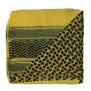 Baumwolltuch - Palituch Motiv 3 gelb - schwarz -...