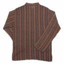 Cotton shirt - Shirt - model 02 - stripes red-brown