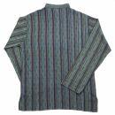 Cotton shirt - Shirt - model 02 - stripes blue-green