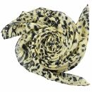 Baumwolltuch - Leopard - Zebra Muster 3 beige - schwarz -...