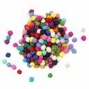 Set - 200x felt ball - colourful - Crafts - Decoration