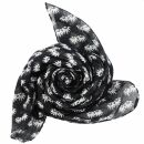 Cotton Scarf - cannabis leaf small - squared kerchief