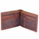 Monedero de cuero - marrón - Portamonedas - Billetero