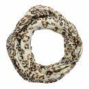 Chal - Leopardo 2 beige - negro - 50x180 cm - Bufanda - Pa?o