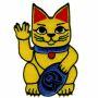 Patch - Lucky Cat - Maneki Neko - volcanic greeting - patch