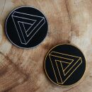 Patch - Triangle - Tetrahedron - sacred geometry - gold...