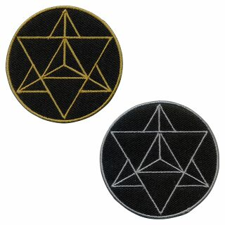 Patch - Star - Tetrahedron - Merkaba - sacred geometry - gold or silver - Patch