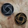 Parche - Hexaedro - Cubo de Metatrón - geometría sagrada - oro o plata - parche