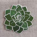 Aufnäher - Lotus Blume - grün - Patch