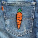 Aufnäher - Karotte - Möhre - orange - Patch