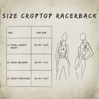 Crop Top - Racerback - Batik - Cortex - black- different colours