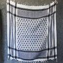 Kufiya - Smilers white - black - Shemagh - Arafat scarf