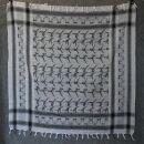Kufiya - Martial Arts white-black - Shemagh - Arafat scarf
