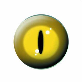 Bottone - occhio di gatto - giallo - spilla