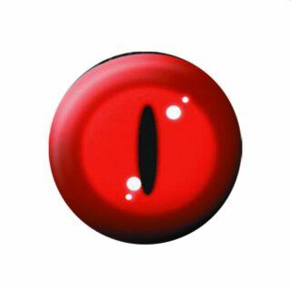 Button - Katzenauge - rot - Anstecker