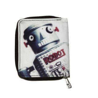 kleine Geldbörse - Roboter - Geldbeutel