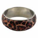 Armreif - Armschmuck - Leopardenmuster 2 - beige