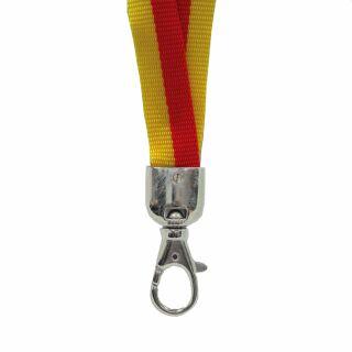 Schlüsselband - gelb - rot